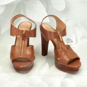 Michael Kors Designer Open Toe Zip Front Heels